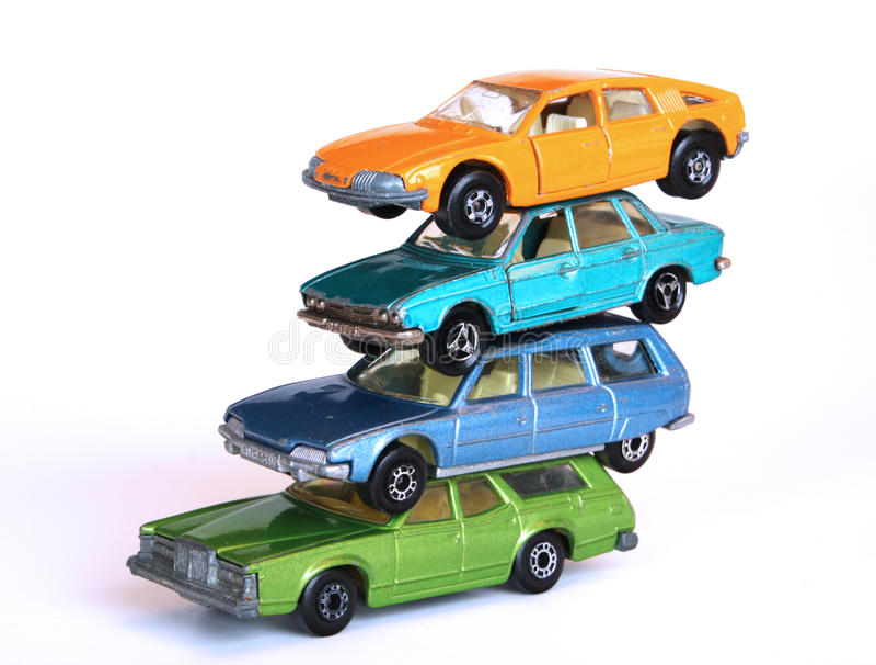 Pila de coches imagen de archivo libre de regalías