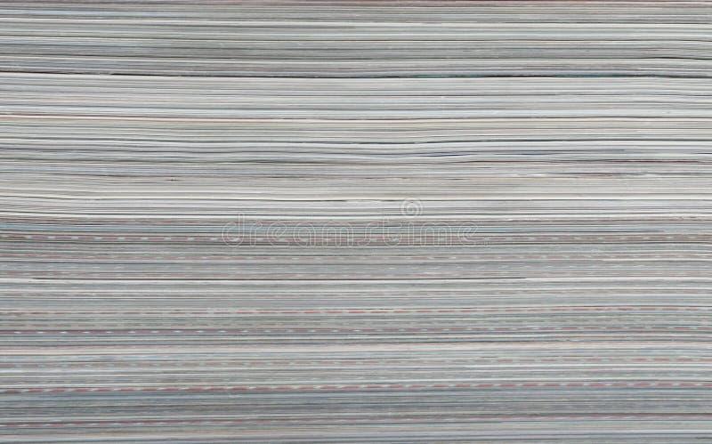 Pila de detalle de las revistas imagen de archivo libre de regalías