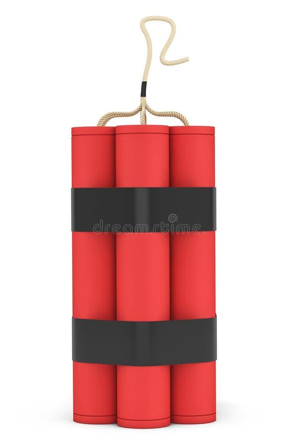 Pila de dinamita roja stock de ilustración