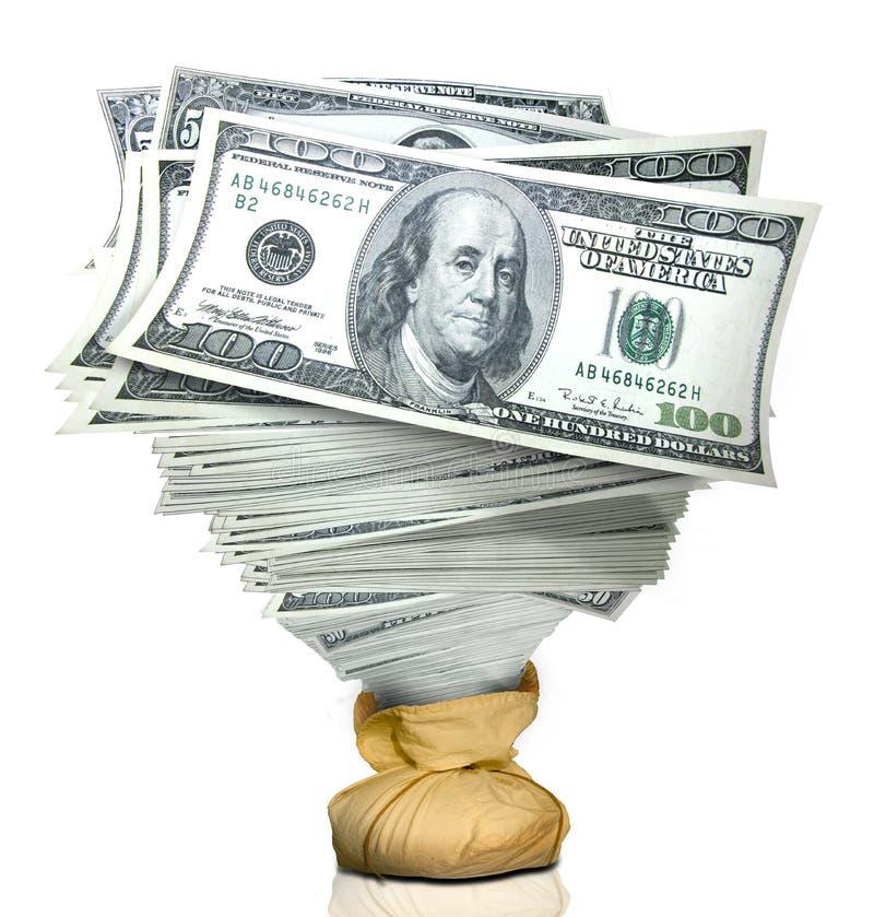 Pila de dinero fotos de archivo libres de regalías