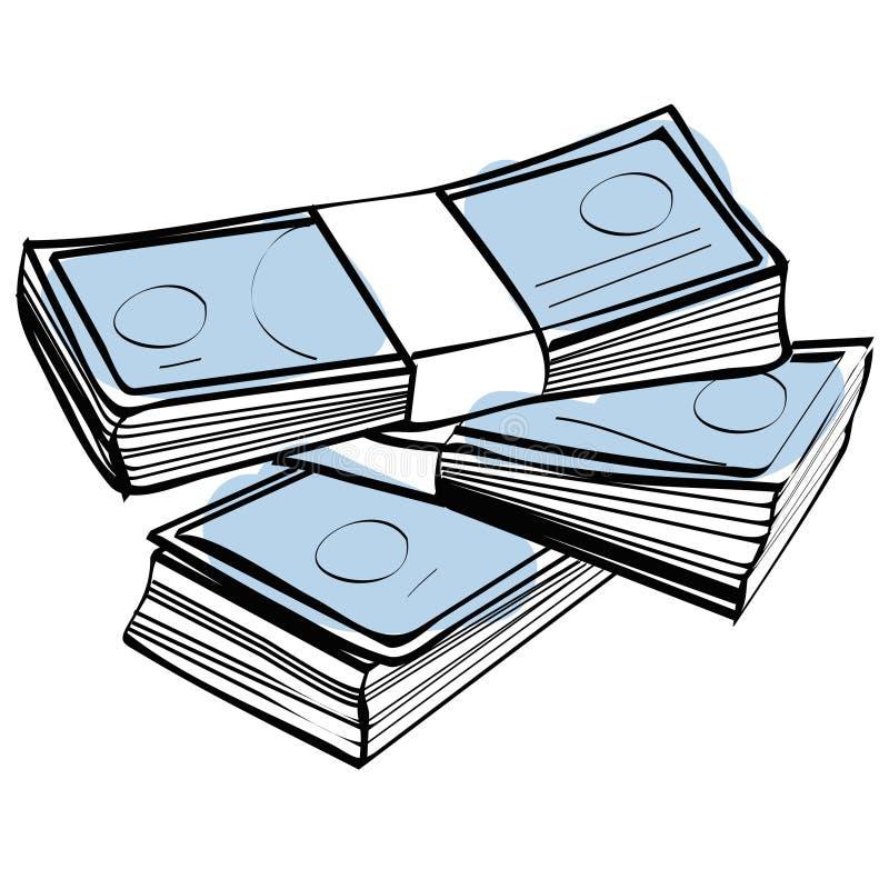 Pila de dinero stock de ilustración