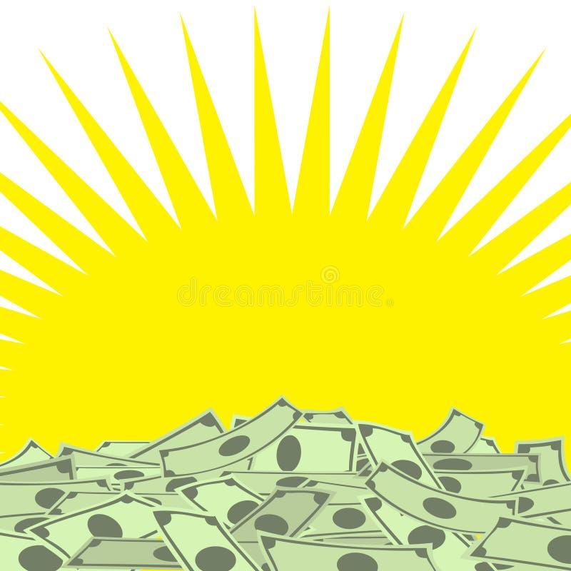 Pila de dinero ilustración del vector