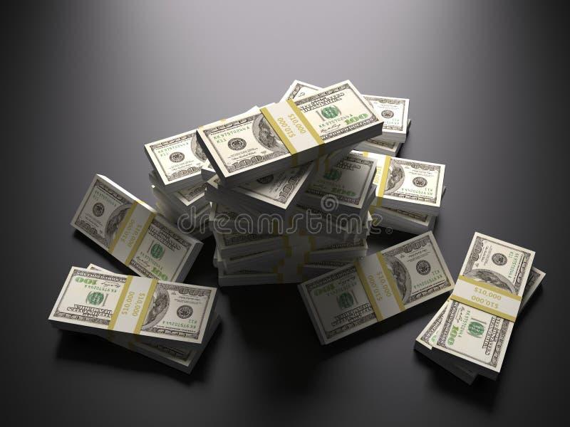 Pila de dinero, dólares foto de archivo