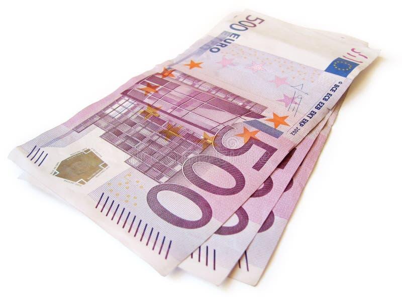 Pila de dinero en circulación del EUR aislada foto de archivo libre de regalías