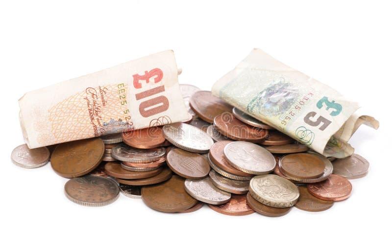 Pila de dinero esterlina imagen de archivo libre de regalías
