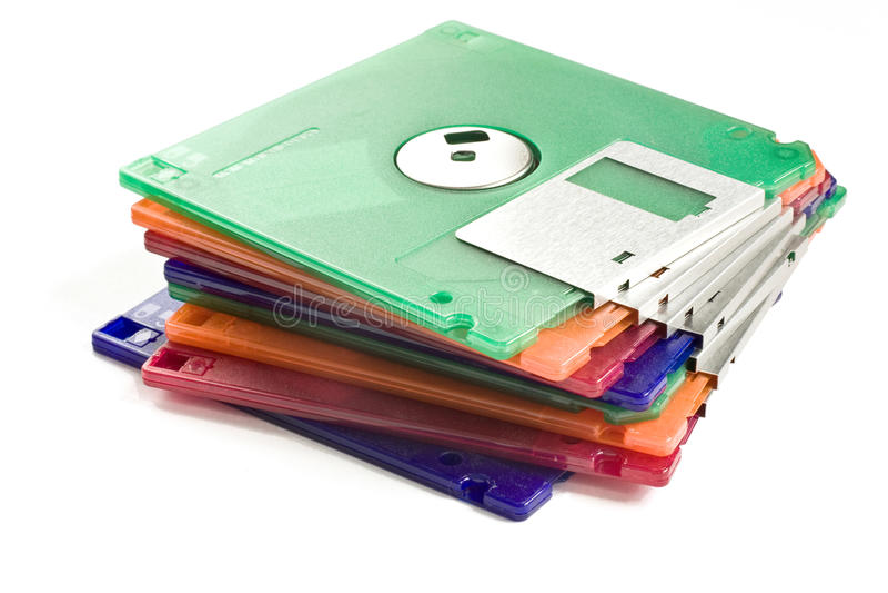 Pila de discos blandos fotos de archivo