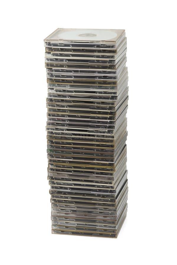 Pila de discos del ordenador imagenes de archivo
