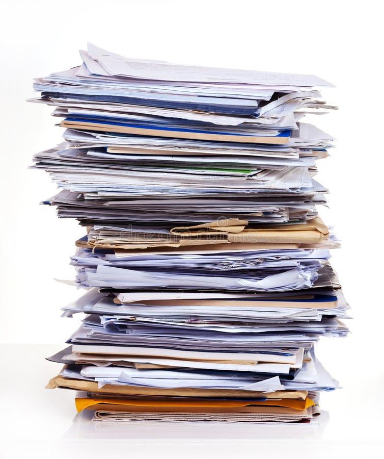 Pila de documentos imágenes de archivo libres de regalías