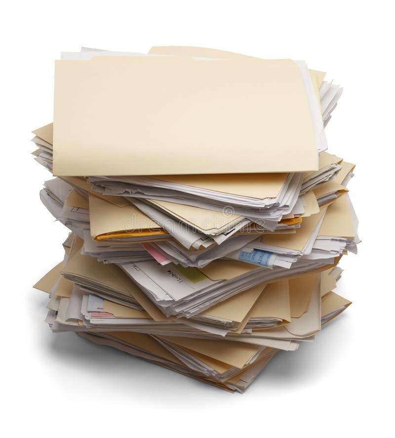 Pila de ficheros imagen de archivo
