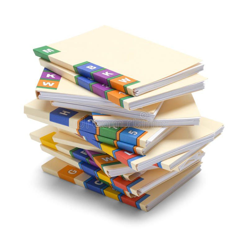 Pila de ficheros médicos foto de archivo libre de regalías