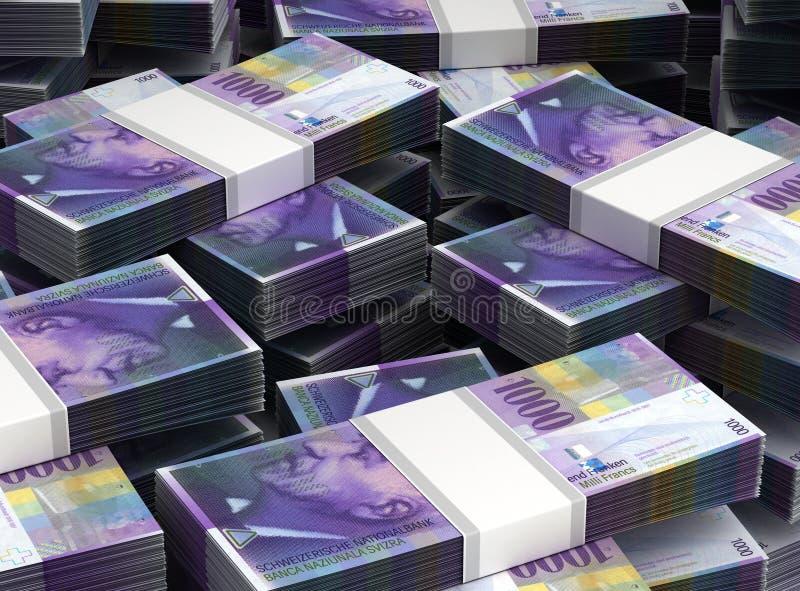 Pila de franco suizo stock de ilustración