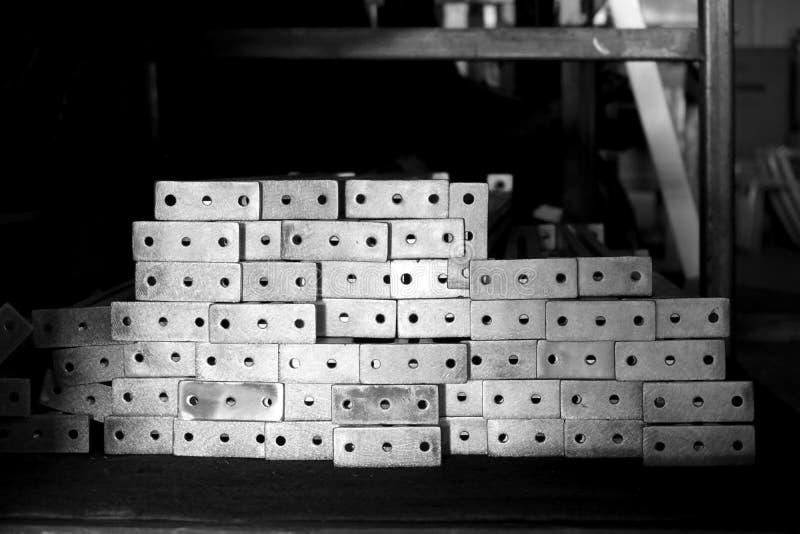 Pila de fundición de aluminio imágenes de archivo libres de regalías