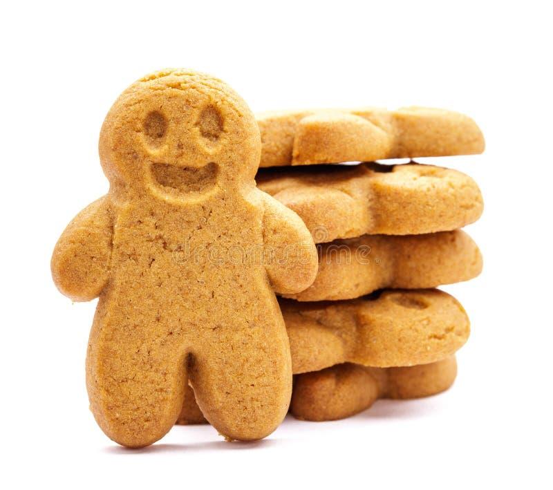 Pila de galletas del pan de jengibre fotos de archivo libres de regalías
