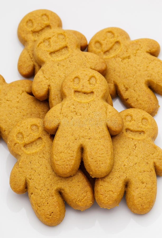 Pila de galletas del pan de jengibre imagenes de archivo