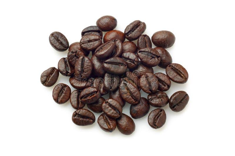 Pila de granos de café (café Robusta) fotos de archivo libres de regalías