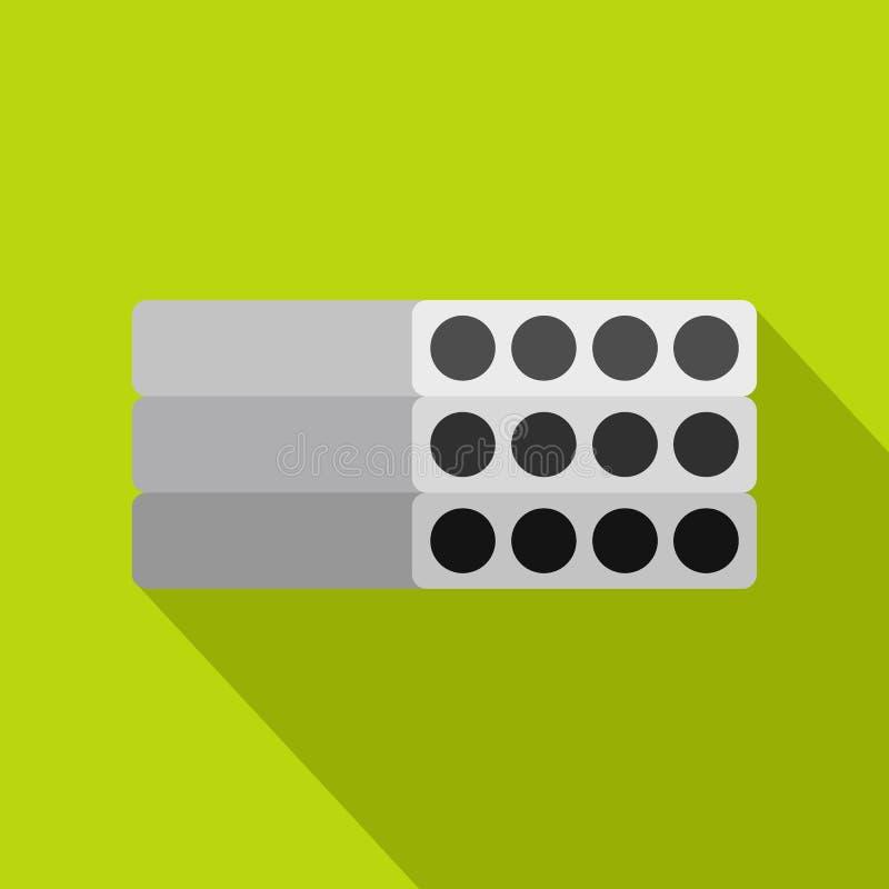 Pila de icono reforzado prefabricado de los bloques de cemento stock de ilustración