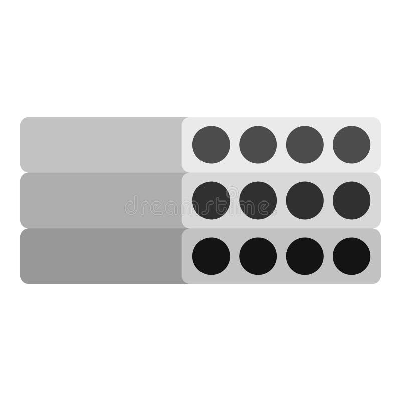 Pila de icono reforzado prefabricado de los bloques de cemento ilustración del vector