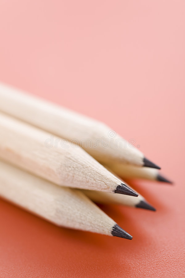 Pila de lápices imagenes de archivo