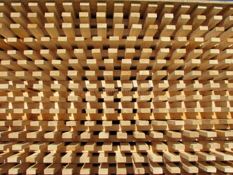 Pila de la madera imagenes de archivo