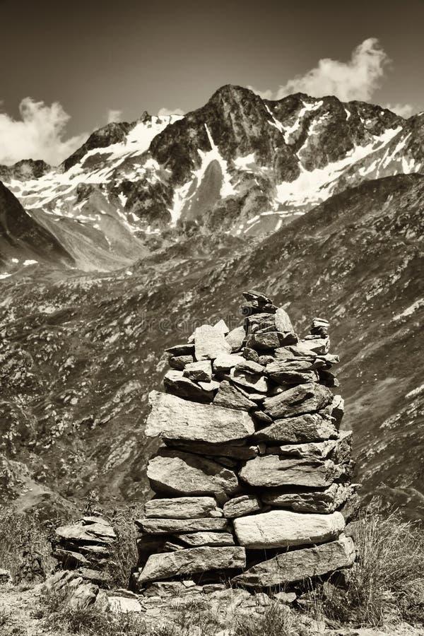 Pila de la roca foto de archivo
