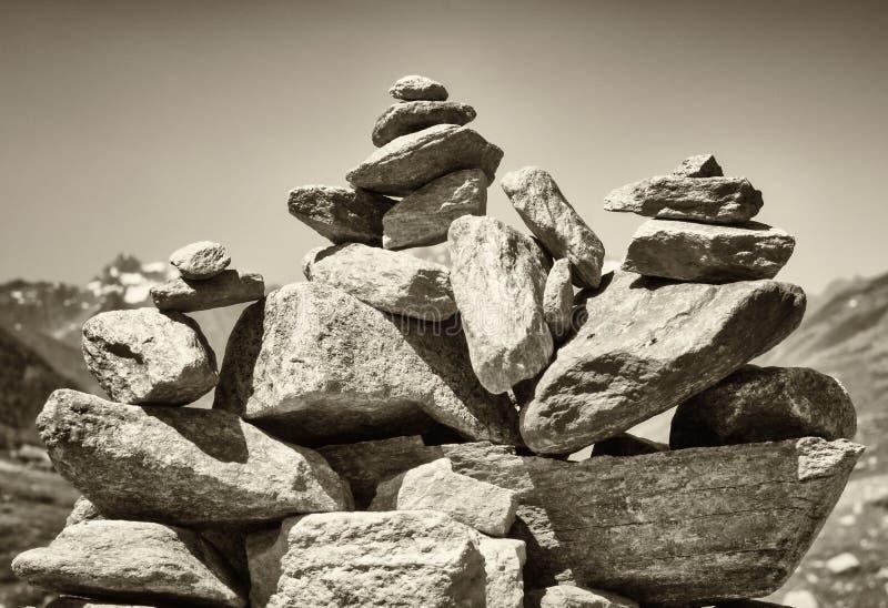 Pila de la roca fotografía de archivo