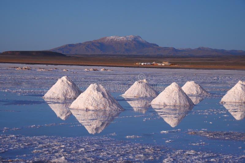 Pila de la sal de Bolivia imagen de archivo libre de regalías