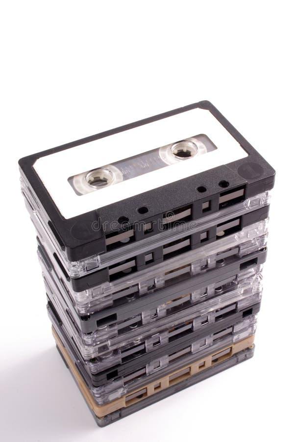 Pila de las cintas de audio fotografía de archivo