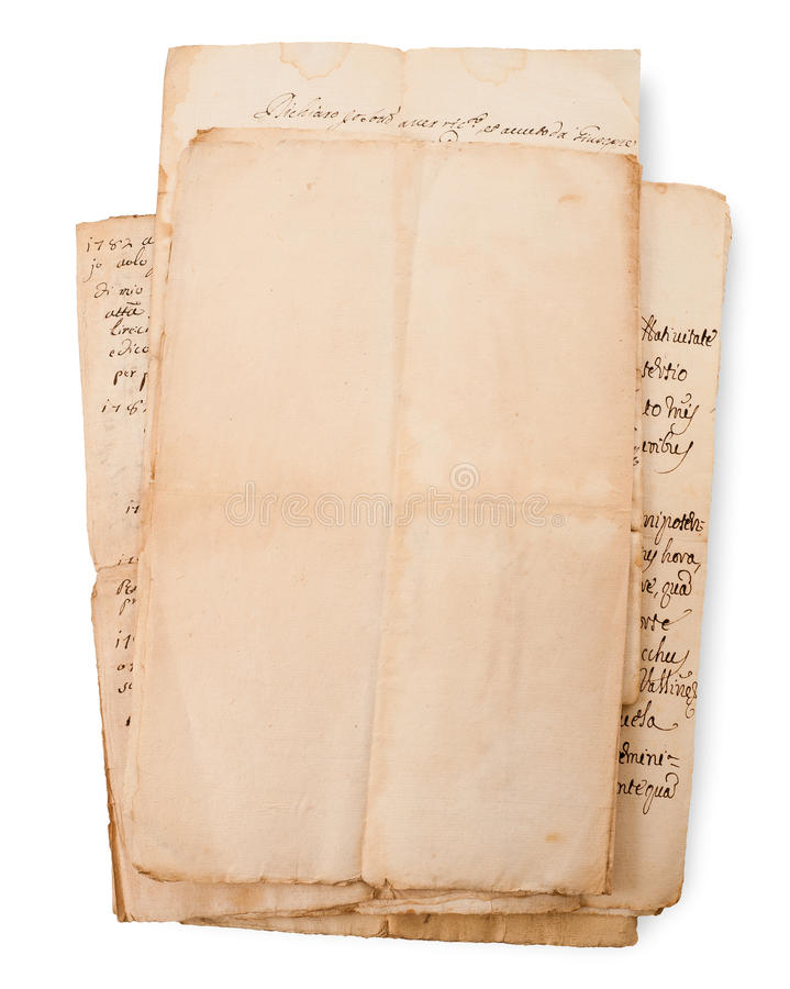 Pila de las letras foto de archivo libre de regalías