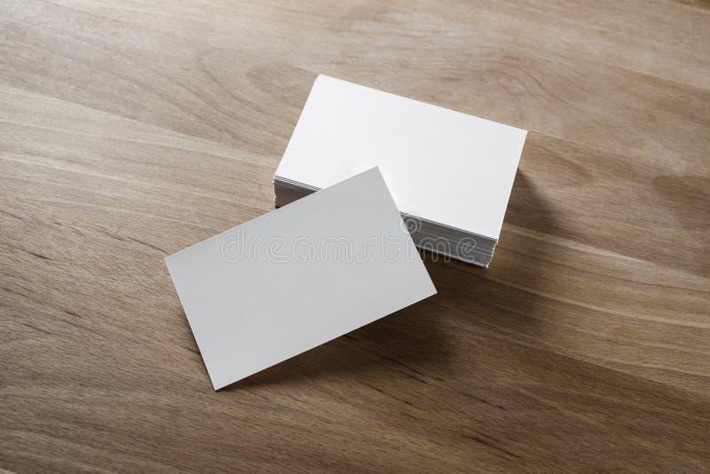 Pila de las tarjetas de visita foto de archivo libre de regalías