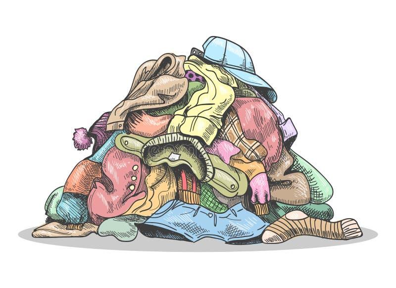 Pila de lavadero sucio libre illustration