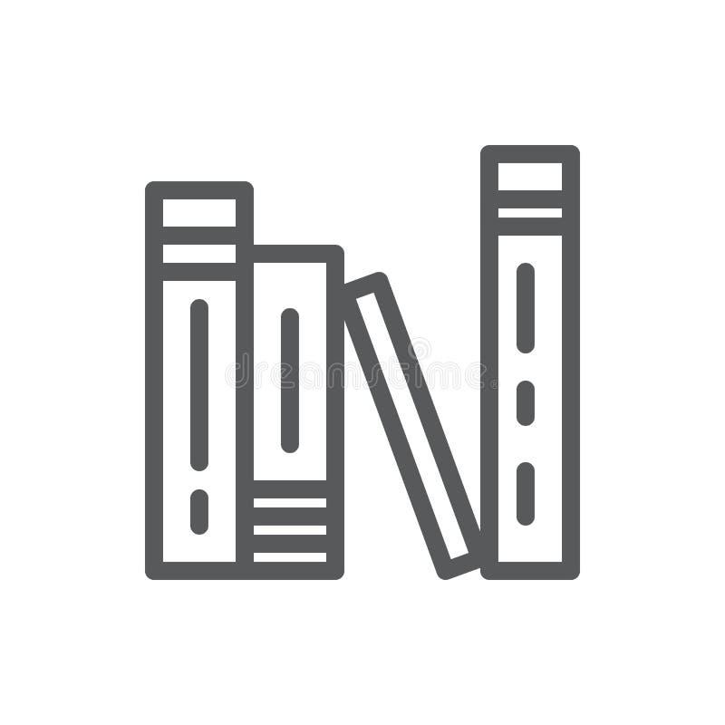 Pila de libros cerrados permanentes con el icono perfecto del pixel del hardcover con el movimiento editable aislado en el fondo  libre illustration