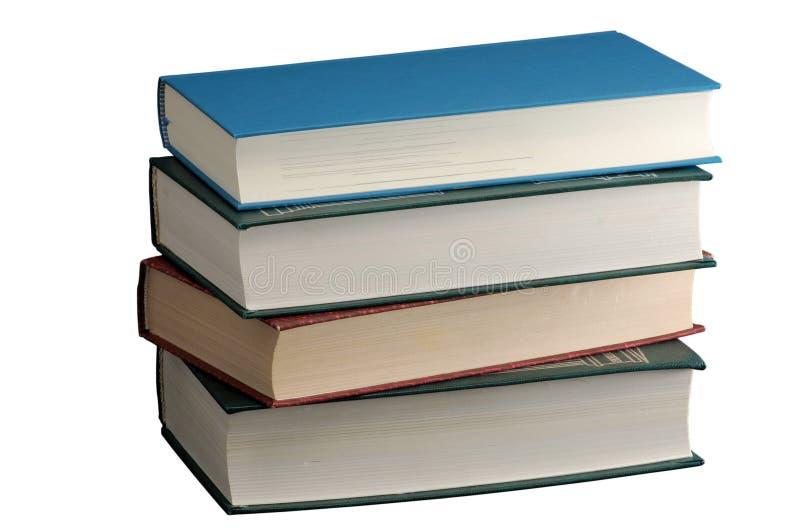 Pila de libros de hardcover aislados en blanco fotografía de archivo libre de regalías