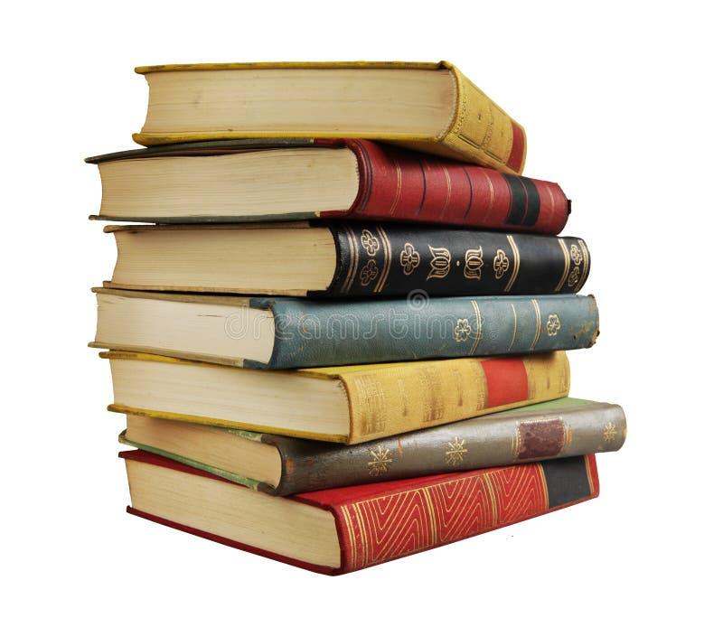 Pila de libros de la vendimia imagen de archivo