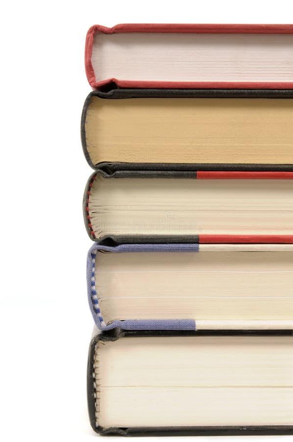 Pila de libros del libro encuadernado fotografía de archivo libre de regalías