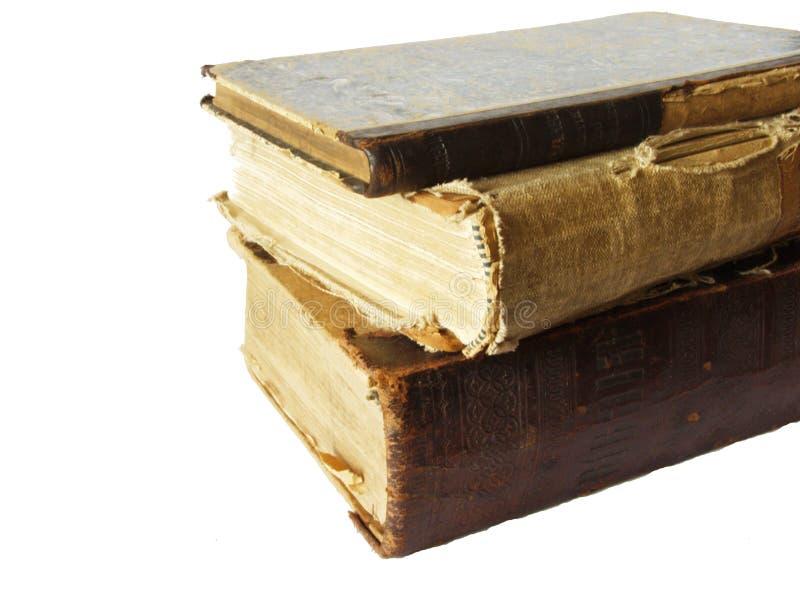 Pila de los libros viejos fotografía de archivo