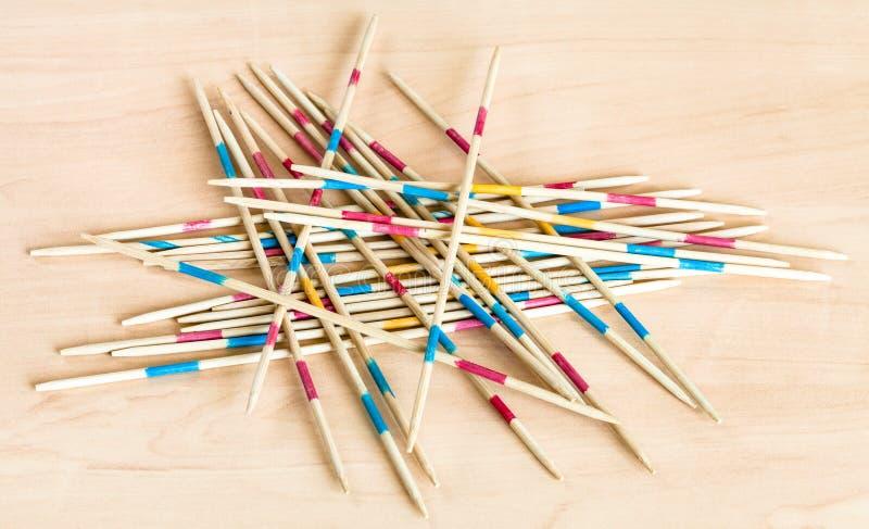 Pila de los palillos del juego de los palillos de la recogida de Mikado fotografía de archivo libre de regalías