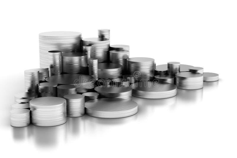 Pila de los tubos de acero stock de ilustración