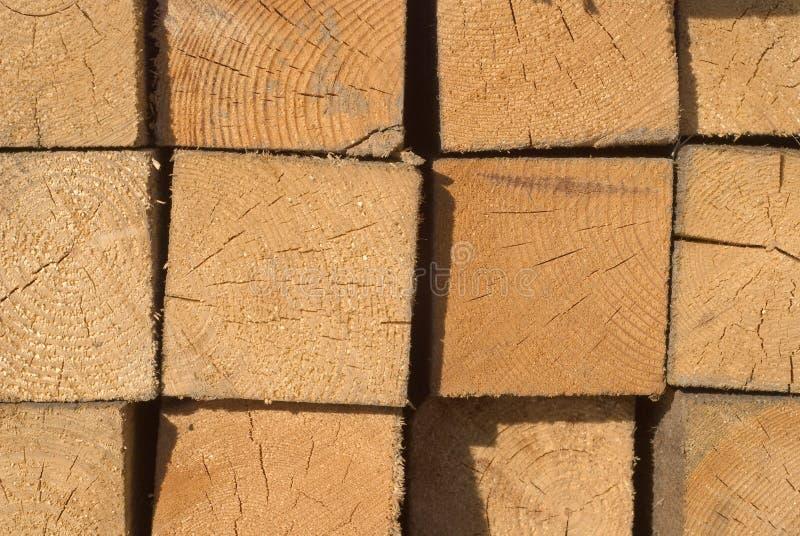 Pila de madera de construcción imagen de archivo libre de regalías