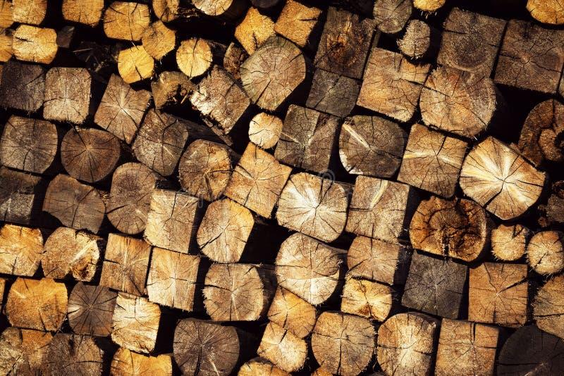 Pila de madera del combustible de la textura foto de archivo libre de regalías