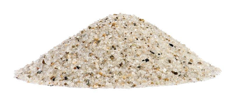 Pila de mezcla del cuarzo de la arena con la roca imagen de archivo