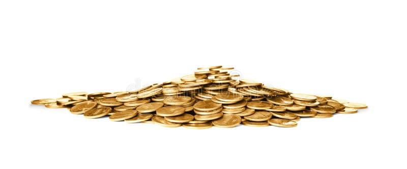 Pila de monedas brillantes imagen de archivo libre de regalías