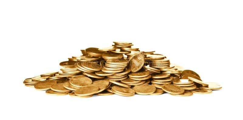 Pila de monedas brillantes de los E.E.U.U. fotografía de archivo libre de regalías