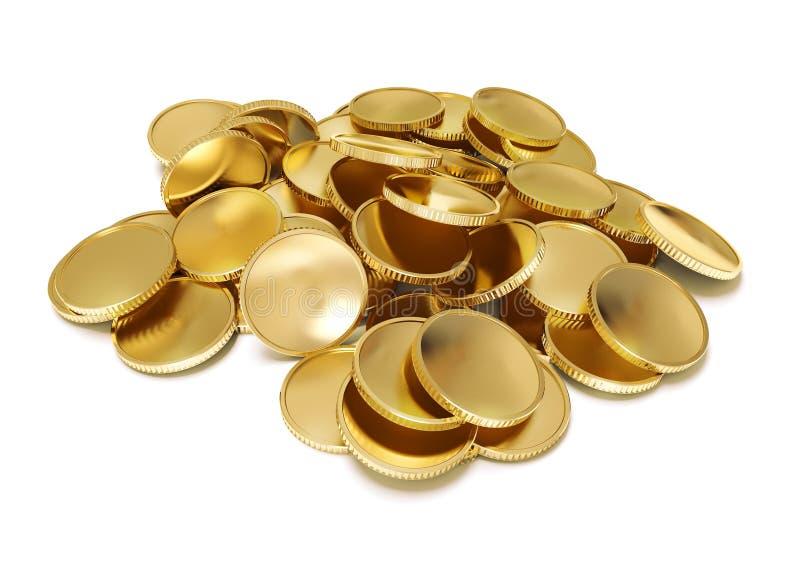 Pila de monedas de oro libre illustration