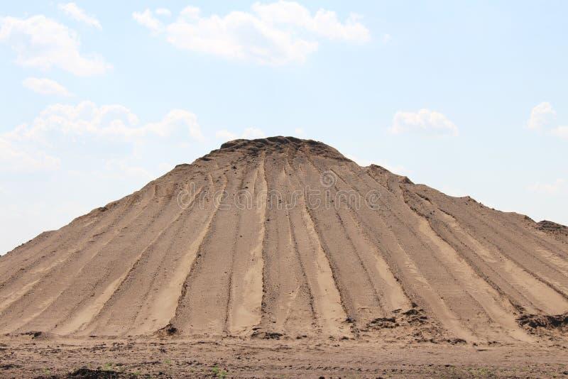 Pila de montaña de la arena foto de archivo libre de regalías