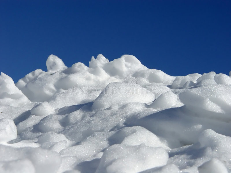 Pila de nieve fotos de archivo libres de regalías