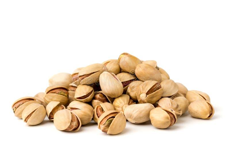 Pila de nueces de pistacho, primer imagen de archivo libre de regalías