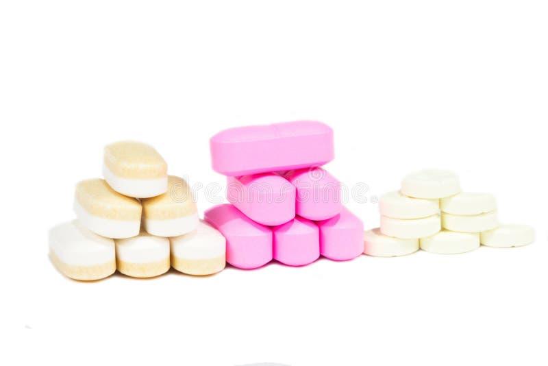 Pila de píldoras. fotos de archivo
