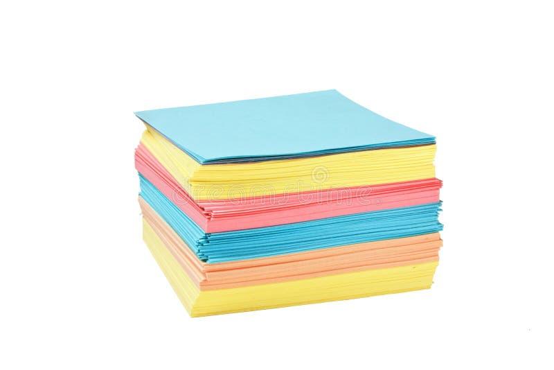 Pila de papel a registrar imagenes de archivo
