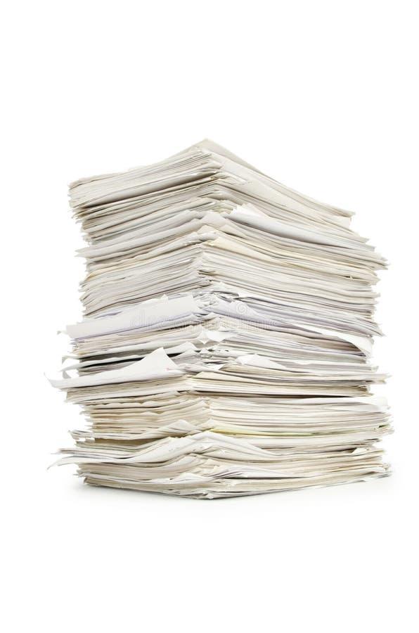 Pila de papeles imagen de archivo