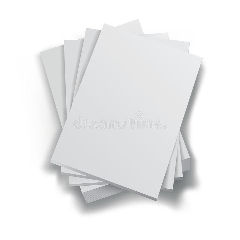 Pila de papeles libre illustration